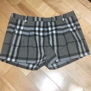 Burberry plaid women's shorts
